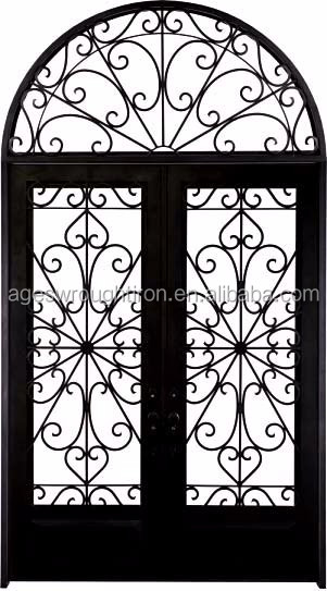 custom designused wrought iron door gates/safety door grill design