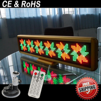 New three color 7 segment car led display board/car led scrolling message display/led message sign screen