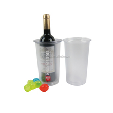 High Quality Small 1L Volume Double wall bottle custom Logo champagne cooler bucket with Clear color Alibaba China