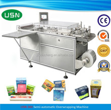 USN-300 semi automatic manual cellphone overwrapper machine for parfume