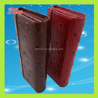 imitation ostrich leather slim pu wallet