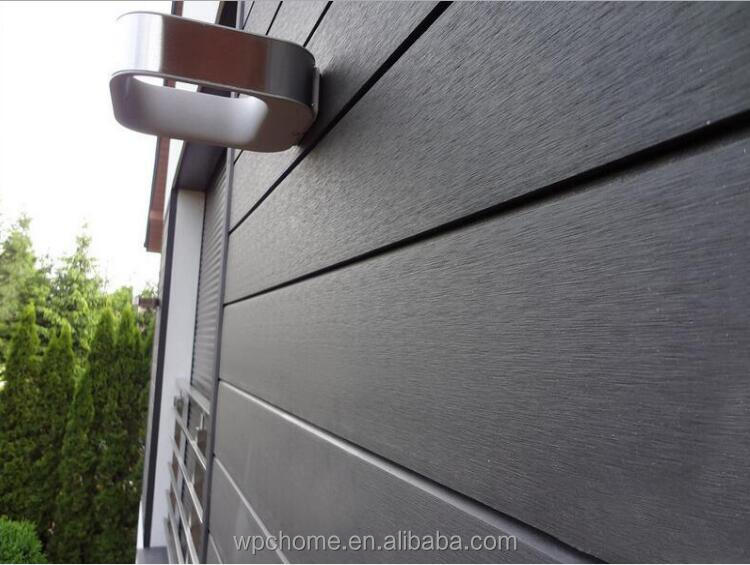 Exterior wall designs plastic wood composite WPC siding panels