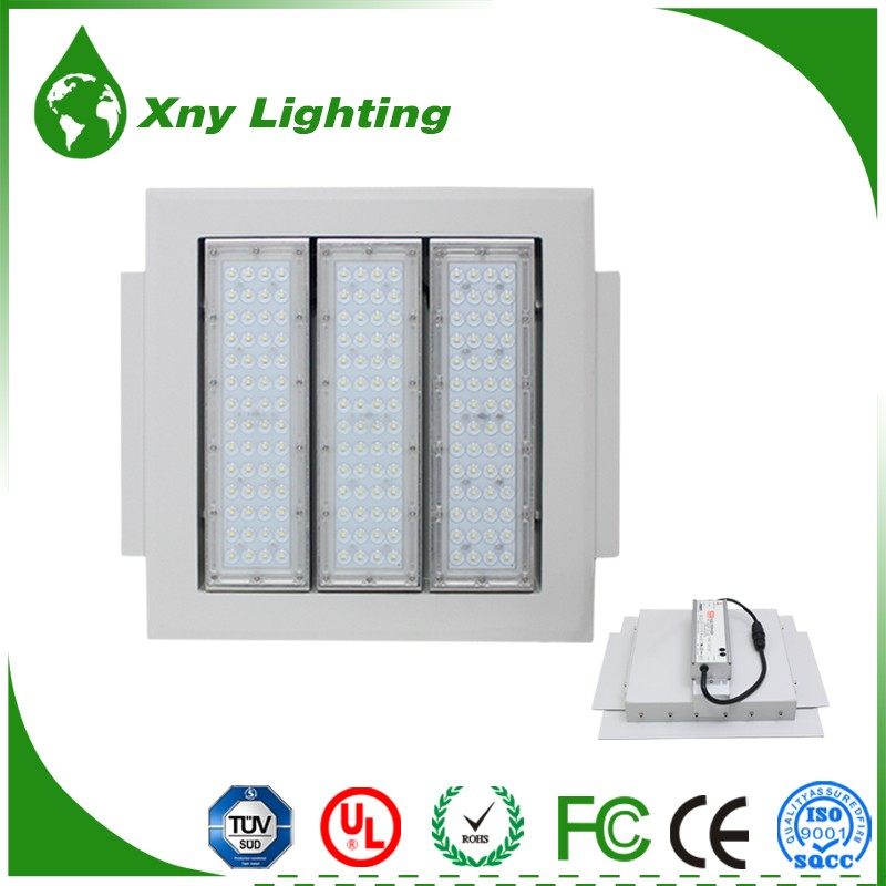 Factory Price Meanwell Driver ip65 100w 120w 150w gas station led canopy lights led gas station