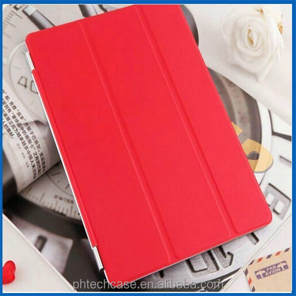Smart Cover Partner Transparent Back+Magnetic PU Leather Case for iPad mini Smart Cover Sleep On/Off for Apple iPad mini 2,3,4