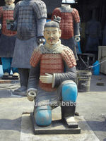 Handmade famous chinese reproduction sculptures of terracotta warriors