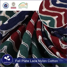 Fancy Design Wholesale nylon fall plate 3d african sequence lace fabric