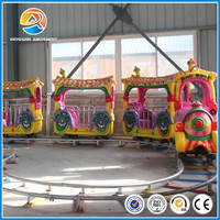 Family ride!!! indoor children park family games electric track train ride for sale