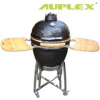 Auplex 21 inch outdoor clay oven smoker kamago bbq grill kamado sausages