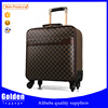 Pilot PU travelling luggage bag luggage bag and cases laptop bag on wheel