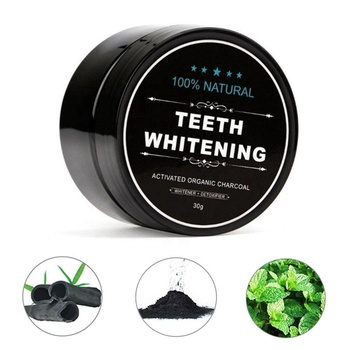 OEM private label activated charcoal powder teeth whitening