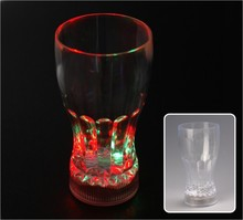 glowing led light coke cup/plastic bar glass/unbreakable drinking ware