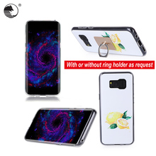 Digital color printing top grade tpu phone cases for Samsung S8 Plus