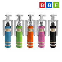BBF Wholesale wired mini monopod selfie sticks with foldable handheld,foldable monopod Selfie stick with cable