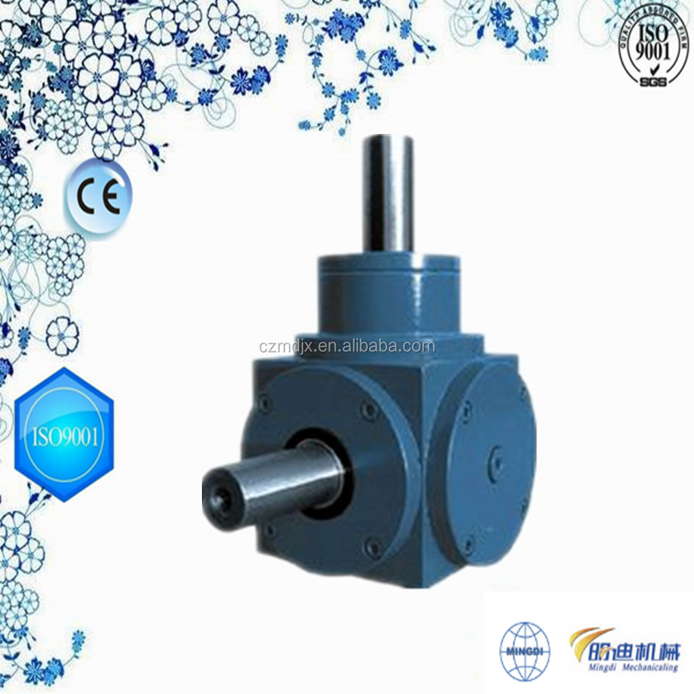 changzhou machinery Right Angle T 90 degree agricultural reduction gearbox