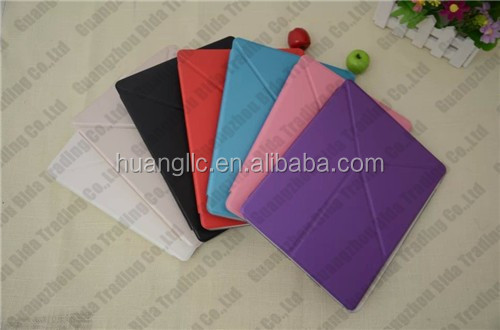 Magnetic Smart Leather Cover + TPU Back Case For New Apple iPad 6 iPad Air2 Sleep Wake