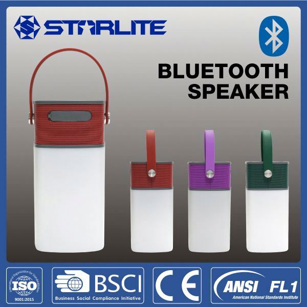 STARLITE rechargeable camping lantern AUX in CE RoHS FCC new bluetooth speaker