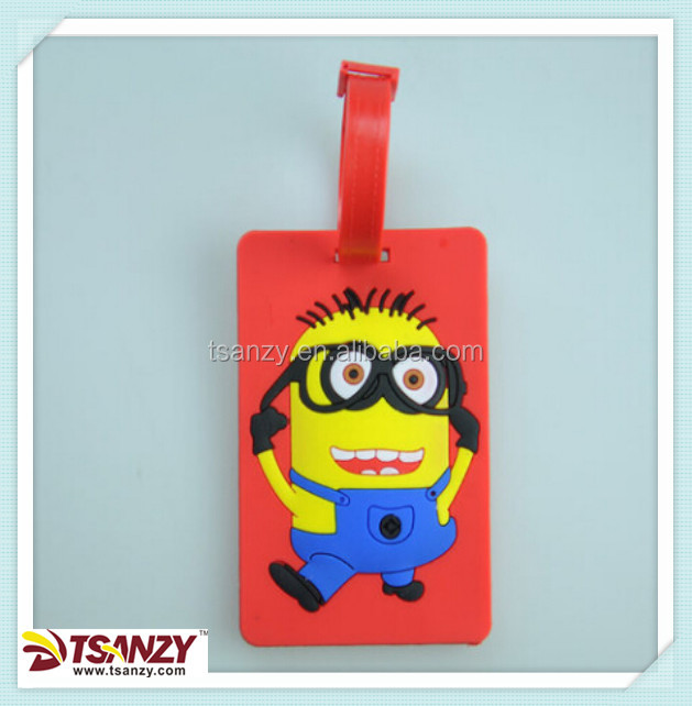 kids cartoon baggage tag for airlines