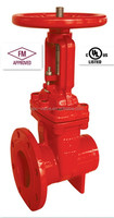 UL FM APPROVED RISING STEM GATE VALVE WITH FLANGE* GROOVE END