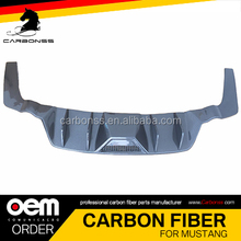 AUTO CARBON FIBER REAR BUMPER DIFFUSER LIP FOR FORD MUSTANG 2014+