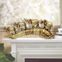 Europe and America Feature elephant sculptures resin ivory statue home & office deco animal figurines