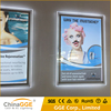 Wall Mounting Display Hotel/Restaurant Advertising Acrylic Slim Crystal Frame LED Light Box
