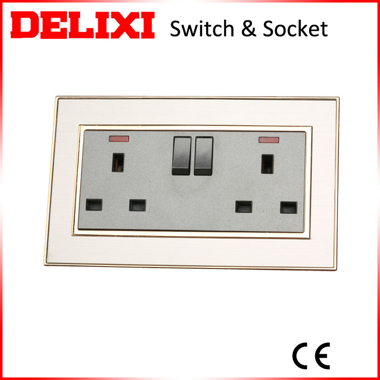 Top design 13a double gang uk wall socket frame