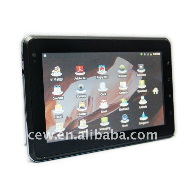 "Teso Freescale Cotex A8 7""inch Android2.3 built in GPS,bluetooth,wifi,3G wcdma call dual camera tablet pc"