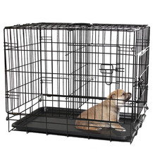 Dog Double Door Kennel Crate FREE Divider And Plastic Tray