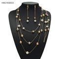 High Quality Dubai New Gold Chain Design Jewelry Set Bead and Rope Chain Custom Jewelry Wholesale
