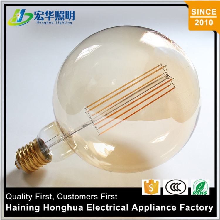 G200 Filament Led Big Globe Bulb Vintage Dimmable 6 Watt With E40 Base