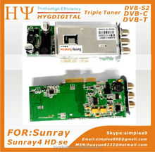 Sunray sr4 sunray4 Triple tuner 3 in1 S C T for sunray sr4 a8p 400Mhz CPU, Built-in WiFi Enigma2 Linux System rev d11 sunray 800
