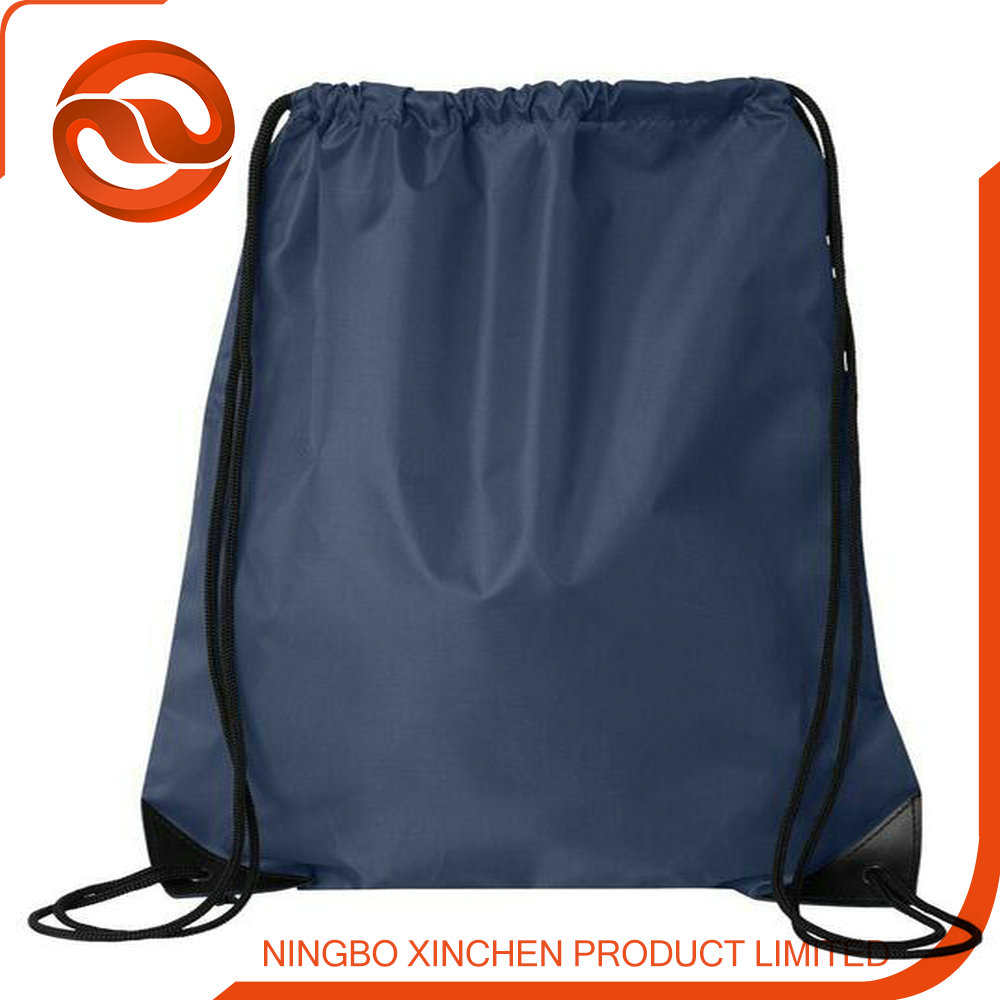 Nylon,polyester Material and Shopping Bag Use Custom Logo Nylon Drawstring Bag with Zipper Pocket