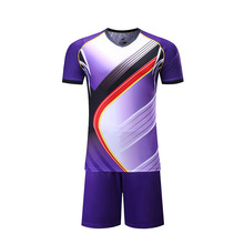 Sublimation Purple Football Jersey Sports Jersey New Model Men Soccer Jersey