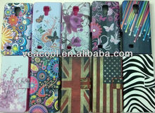 Flower Series Magnetic Flip Wallet Leather Stand Case Cover for Samsung Galaxy s4 mini i9190