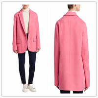 Fashion Women Warm Winter Pink Cashmere Wool Overcoat