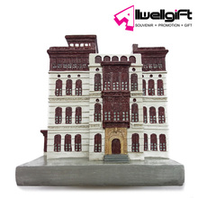 Unique souvenir gift home decoration european house poly resin craft