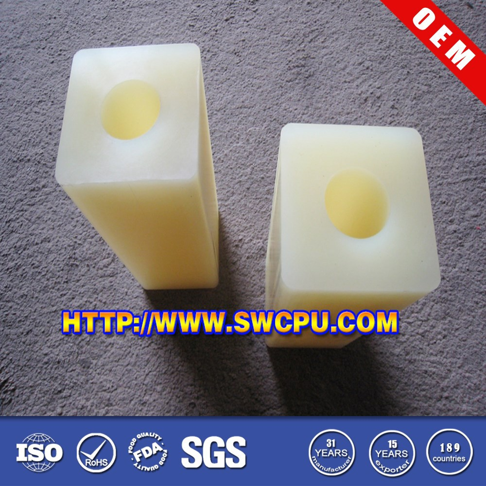 CNC nylon PA square tube bushings
