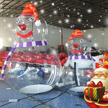 New design inflatable clear snowman christmas transparent snowman