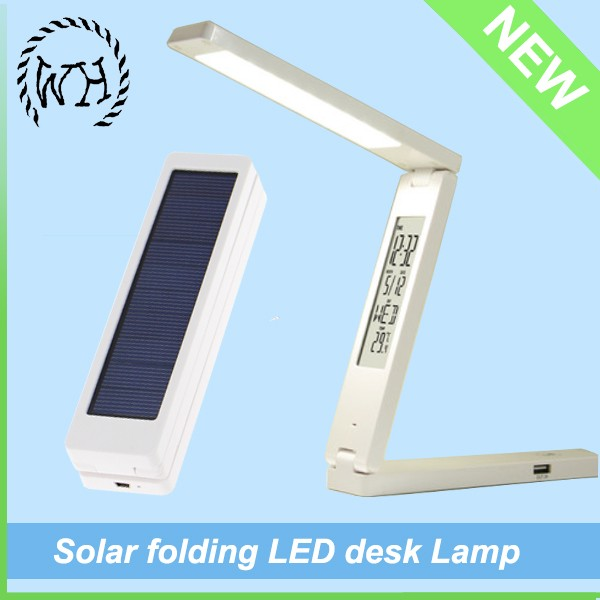 Foldable Solar Energy Dynamo Rechargeable 15 LED Portable Reading Table Lamp