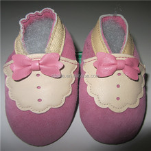 Princess lovely butterfly Hole Anti skip Unisex Footwear real leather baby shoes from making suppliers china suppliers newborn