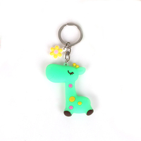Custom 3D soft PVC High Quality key chain rubber 2D/3D model car key ring