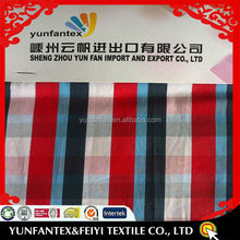 2018 new Italy design pattern cheapest cotton yarn dyed check EASY CARE fabric