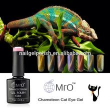 Colorful natural organic nail polish soak off UV nail gel polish