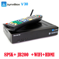 DVB S2 Android TV box Jynxbox V30 cccam iptv with JB200 for north Ameirca