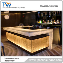 Modern design Solid Surface Factory direct home bar counter