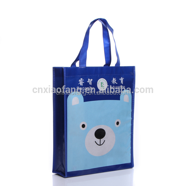 Wholesale cartoon pp eco woven bag/tnt laminated non woven bag