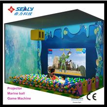 jungle candy ocean theme metal pipe build playground slide for sale Projector interaction game Penguin X-ball