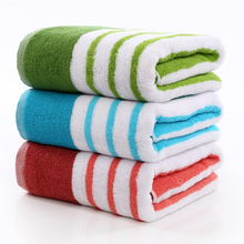 Soft Cheap Customized Private Label Wholesale large size 70/140 All colours Dying Cotton Bath Towel Set