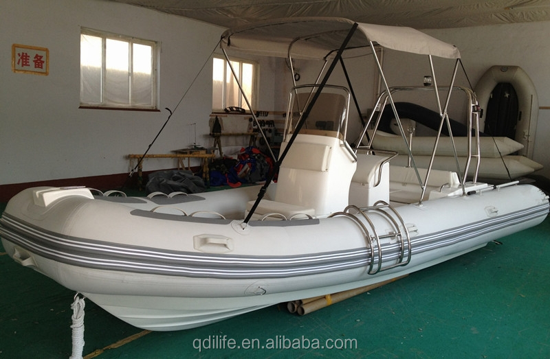 5.8m fiberglass rowing military patrol pontoon boat for sale