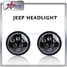 Auto Parts 7'' LED Head Light 60w led headlights for Jeep Wrangler Tj Jk Hummer headlight for mitsubishi l300